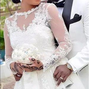 Dresses & Skirts - Tulle Lace Beaded Boho Dubai Arabic Wedding Gown